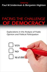 Facing the Challenge of Democracy – Explorations in the Analysis of Public Opinion and Political Participation | Princeton Scholarship Online